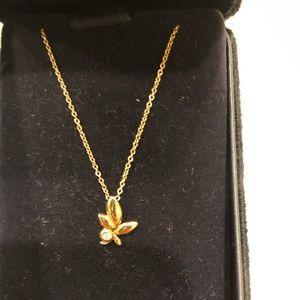 Tiffany 18K Rose Gold Diamnond 16-inch necklace